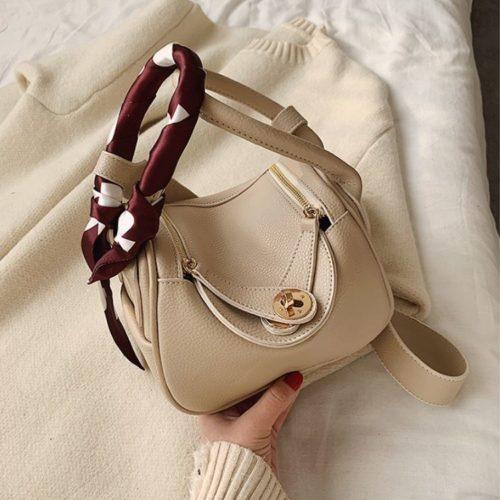 JT10951-beige Tas Handbag Cantik Import Wanita Tali Selempang