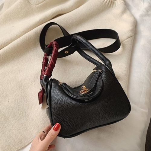 JT10951-black Tas Handbag Cantik Import Wanita Tali Selempang
