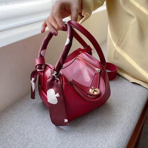 JT10951-red Tas Handbag Cantik Import Wanita Tali Selempang