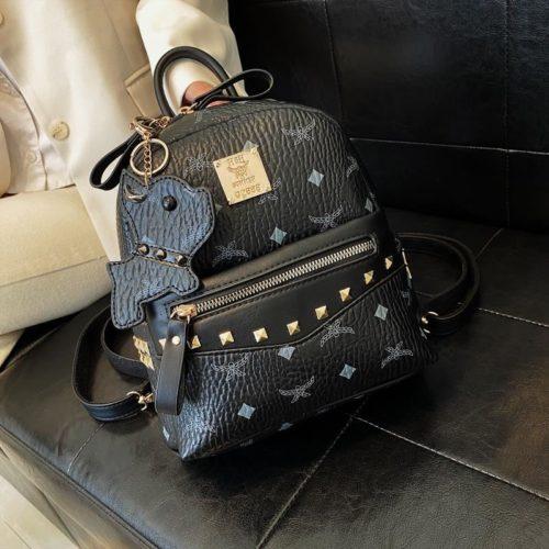 JT10952-black Tas Ransel Wanita Elegan Import Terbaru