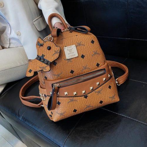 JT10952-brown Tas Ransel Wanita Elegan Import Terbaru