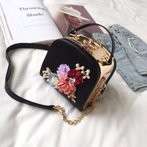 JT11060-black Tas Selempang Kosmetik Wanita Elegan Import