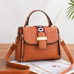 JT11071-brown Tas Handbag Selempang Wanita Cantik Elegan