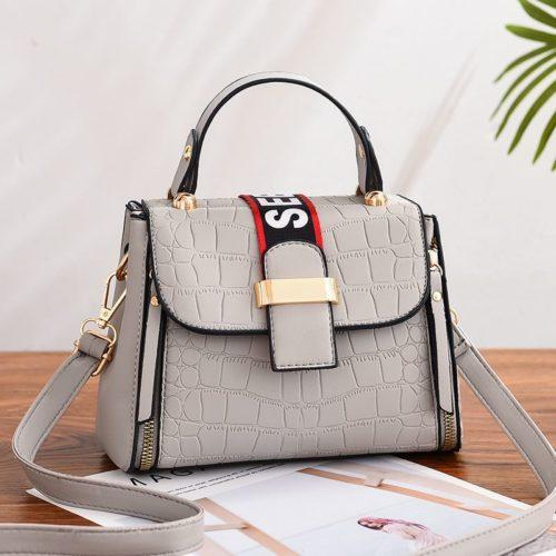JT11071-gray Tas Handbag Selempang Wanita Cantik Elegan