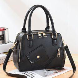 JT11117-black Tas Handbag Pesta Wanita Tali Selempang