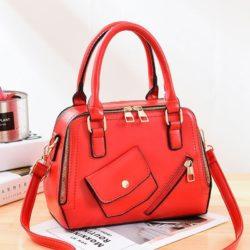 JT11117-red Tas Handbag Pesta Wanita Tali Selempang