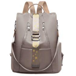 JT1122-khaki Tas Ransel Wanita Stylish Import Terbaru