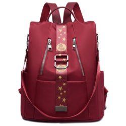 JT1122-red Tas Ransel Wanita Stylish Import Terbaru