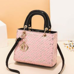 JT11361-pink Tas Handbag Selempang Wanita Elegan Import Terbaru