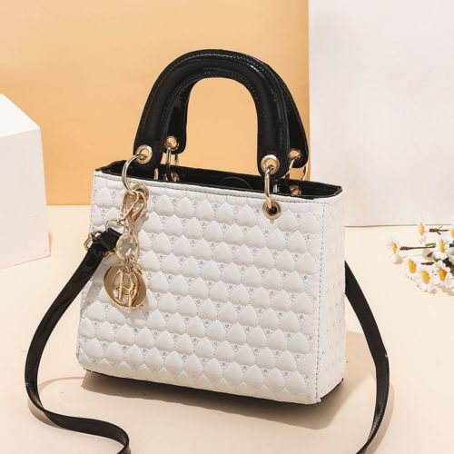 JT11361-white Tas Handbag Selempang Wanita Elegan Import Terbaru