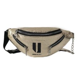 JT119-gold Tas Waistbag Wanita Lucu Kekinian Import
