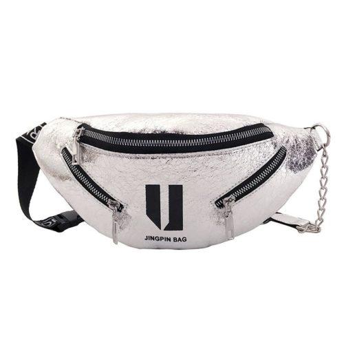 JT119-silver Tas Waistbag Wanita Lucu Kekinian Import