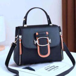 JT12023-black Tas Handbag Selempang Wanita Cantik Elegan