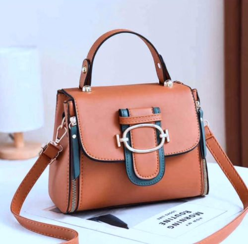 JT12023-brown Tas Handbag Selempang Wanita Cantik Elegan