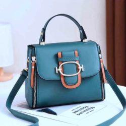 JT12023-green Tas Handbag Selempang Wanita Cantik Elegan