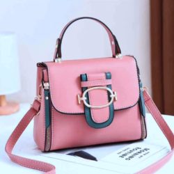 JT12023-pink Tas Handbag Selempang Wanita Cantik Elegan