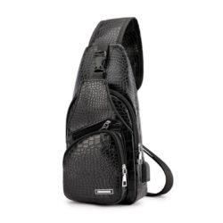 JT12024-black Tas Slingbag Pria Keren Terbaru Import