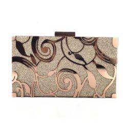 JT12100-bronze Tas Pesta Clutch Import Wanita Elegan (Tali Rantai)