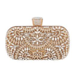 JT12103-gold Tas Pesta Import Elegan Wanita (Ada Kotak