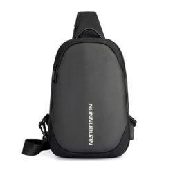 JT12254-gray Tas Sling Bag Pria Modis Colokan USB