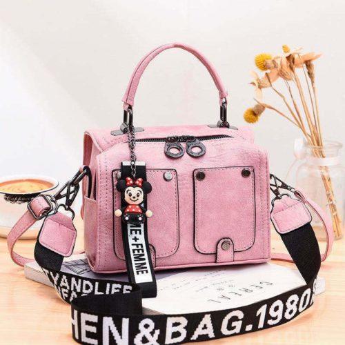 JT12305-pink Tas Selempang Fashion Modis Wanita Cantik Import