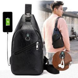 JT1232-black Sling Bag Fashion Modis Pria Keren