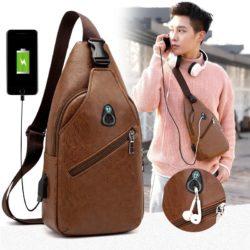 JT1232-brown Sling Bag Fashion Modis Pria Keren