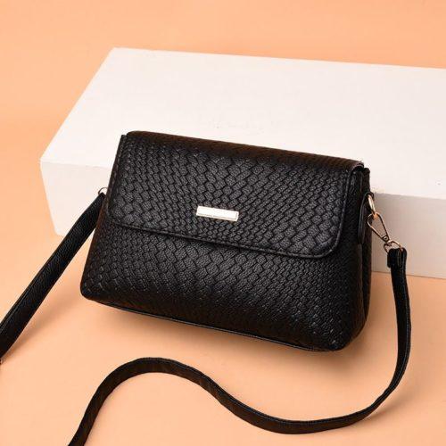 JT12488-black Tas Selempang Fashion Wanita Cantik Import