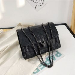 JT12506-black Tas Clutch Bag Tali Selempang Wanita Elegan