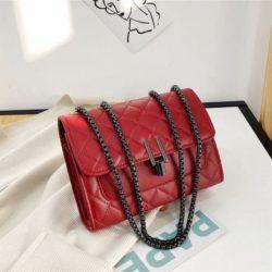 JT12506-red Tas Clutch Bag Tali Selempang Wanita Elegan