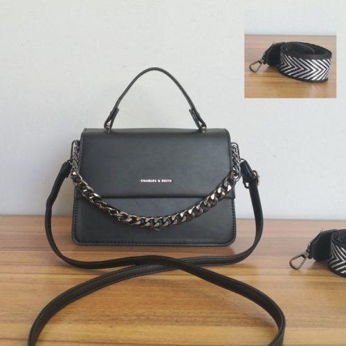 JT1254-black Tas Selempang Handbag Import Wanita Cantik