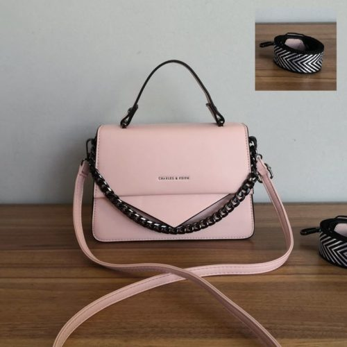 JT1254-pink Tas Selempang Handbag Import Wanita Cantik
