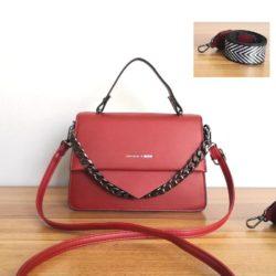 JT1254-red Tas Selempang Handbag Import Wanita Cantik