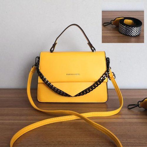 JT1254-yellow Tas Selempang Handbag Import Wanita Cantik