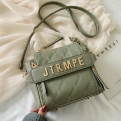 JT12549 IDR.157.000 MATERIAL PU SIZE L19XH19XW10CM WEIGHT 550GR COLOR GREEN