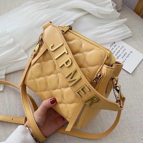 JT12549-yellow Tas Selempang Wanita Stylish Import Terbaru