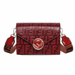 JT125502-red Tas Selempang Fashion Import Terbaru