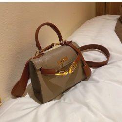 JT125507-khaki Tas Fashion Import Kekinian Wanita Cantik