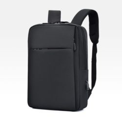 JT12588-black Tas Ransel Laptop Unisex Colokan USB Import