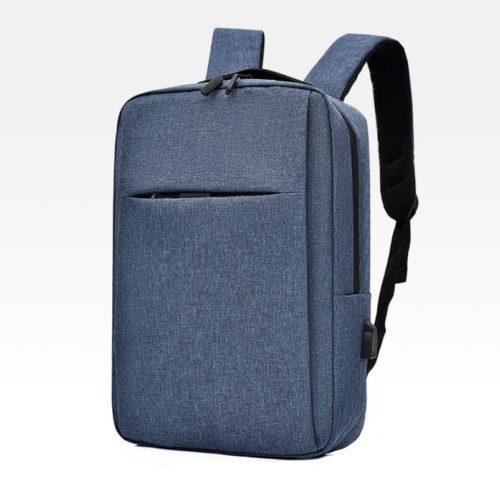 JT12588-blue Tas Ransel Laptop Unisex Colokan USB Import