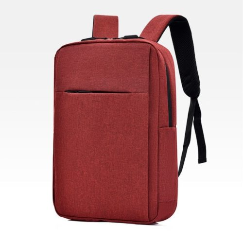 JT12588-red Tas Ransel Laptop Unisex Colokan USB Import