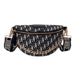 JT12622-black Tas Waist Bag Fashion Import Wanita Cantik