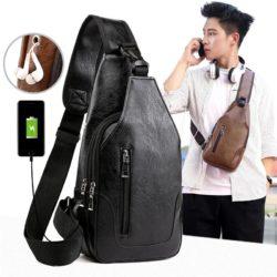 JT12636-black Sling Bag Pria Modis Import Kekinian