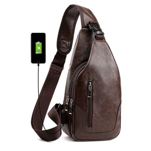 JT12636-coffee Sling Bag Pria Modis Import Kekinian