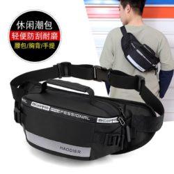 JT12637-black Sling / Waist Bag Pria Modis Terbaru Import