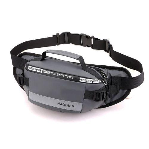 JT12637-gray Sling / Waist Bag Pria Modis Terbaru Import