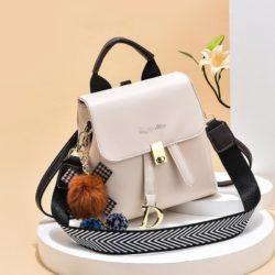 JT12668-beige Tas Ransel Wanita Fashion Modis Bisa Selempang