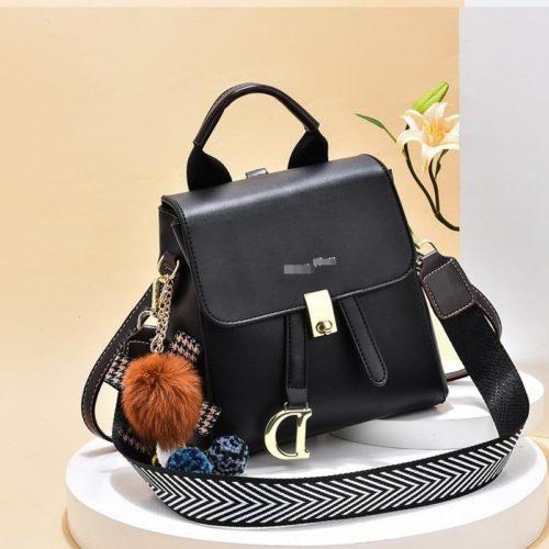JT12668-black Tas Ransel Wanita Fashion Modis Bisa Selempang