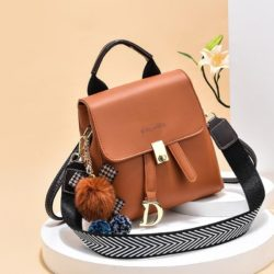JT12668-brown Tas Ransel Wanita Fashion Modis Bisa Selempang