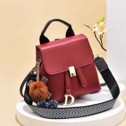JT12668-red Tas Ransel Wanita Fashion Modis Bisa Selempang